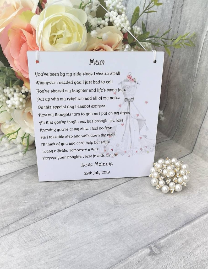 Gift from Bride Personalised Mother of the Bride Gift