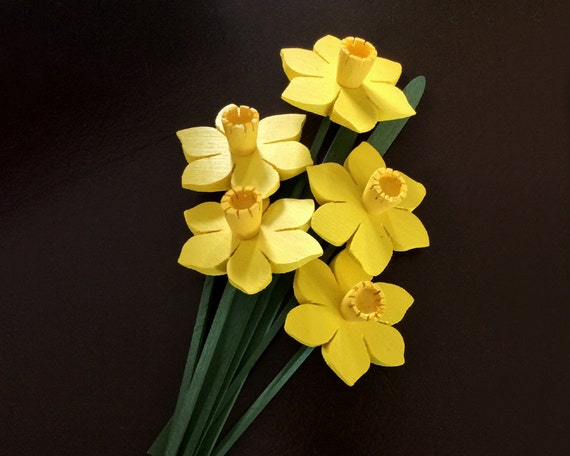 Daffodils, Spring, Wooden Flowers, Handmade, Proceeds to Canadian Cancer Society, April, Easter