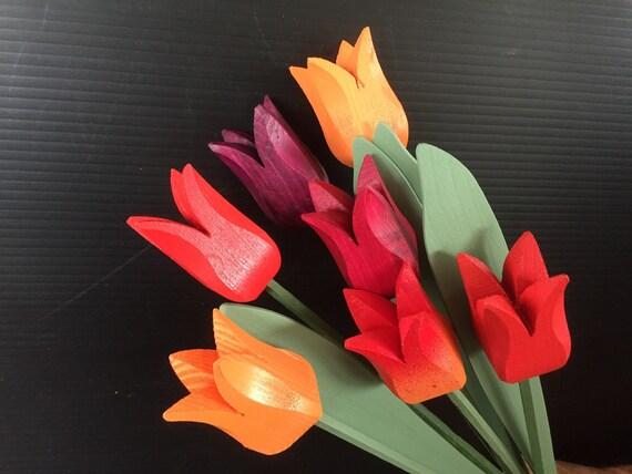 """Wooden tulips """"YLVA 7"""""""