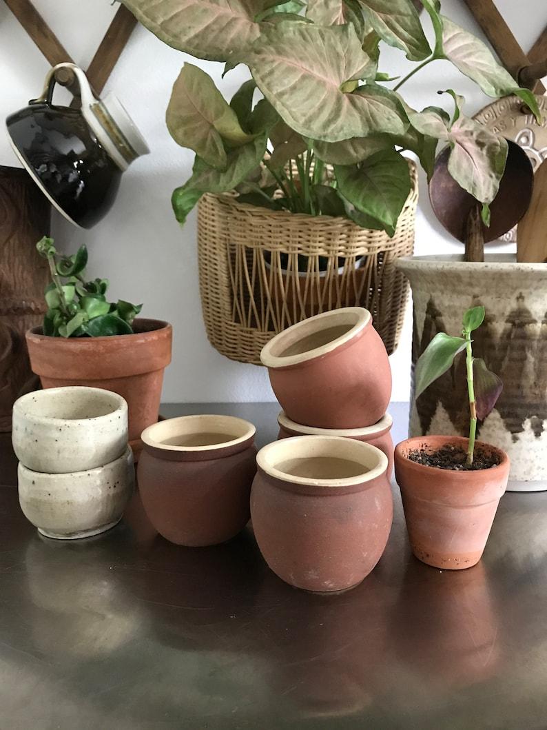 4 Little Planters Terra Cotta Rustic Tiny Planter Set of 4 | Etsy on