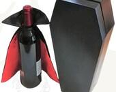Wine Coffin Gift Box with Vampire Cape