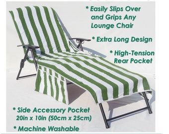 Personalized (or, Not - your choice) 100% Cotton Lounge Chair Cover!