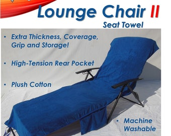 Personalized (or, Not - your choice) NEW Cotton Lounge Chair II Cover