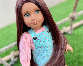 "10-11/"" Custom Doll WIG for 18/"" American Girl Doll Descendants Uma Limited"