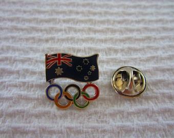 Sydney Olympic Games AOC Flag & Coloured Ring