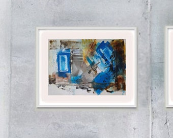 Diptych painting, Original Abstract Acrylic Painting, Modern Art Abstract Painting, Mixed Media Collage Art, Modern Art Painting, Fine Art