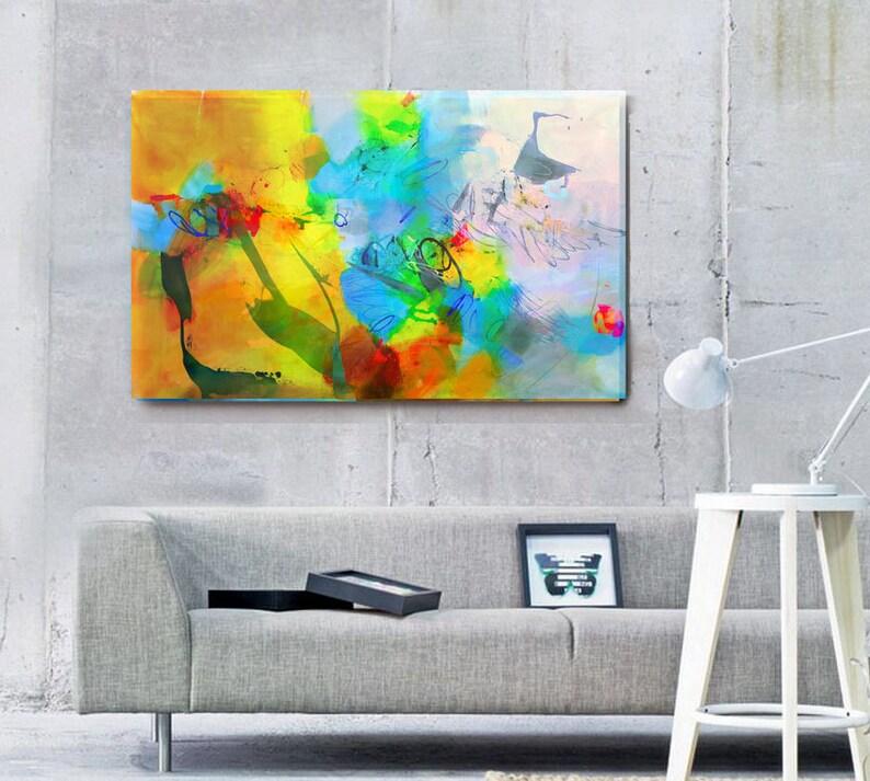 Fine art print abstract wall art living room large acrylic image 0