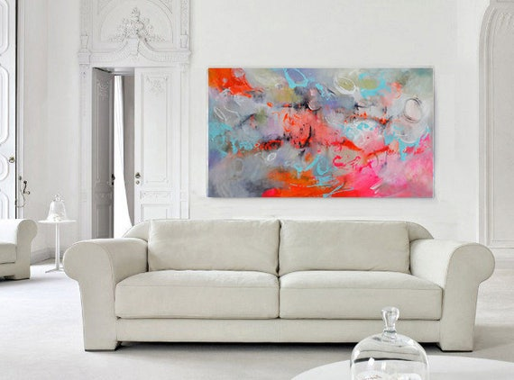 Large Abstract Art Modern Art Canvas Living Room Decor ...