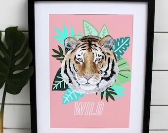 Wild Tiger Print | Home Decor| Jungle Print | Tiger Poster | Luxury Prints