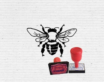 Honey Bee Craft Stamp for Scrapbooking, Cardmaking, Vintage Stamps and Bullet Journaling