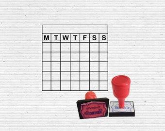 Calendar Stamp Scrapbooking and Bullet Journaling