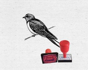 Bird on Branch Craft Stamp for Scrapbooking, Cardmaking, Vintage Stamps.