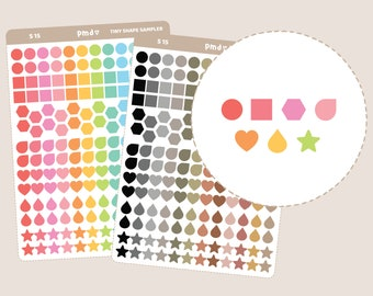 Tiny Shape Sampler Stickers | Planner Stickers | S15