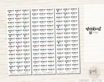 Workout Time Stickers - Planner Stickers - FS15