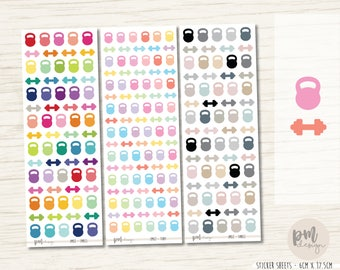 Workout Icon Mix Stickers -  Planner Stickers - IM02
