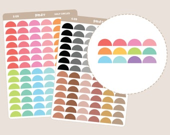 Half Circle Stickers | Planner Stickers | S09