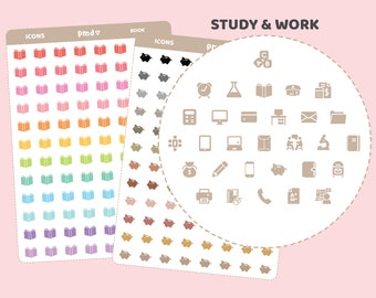 Study & Work Icon Stickers | 30 Icons | IC04