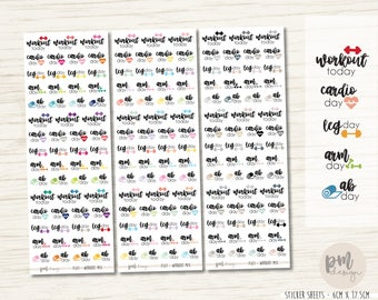 Workout Stickers - Planner Stickers - FS03