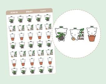 Plants | Eche Character Stickers | Planner Stickers | ECHE03