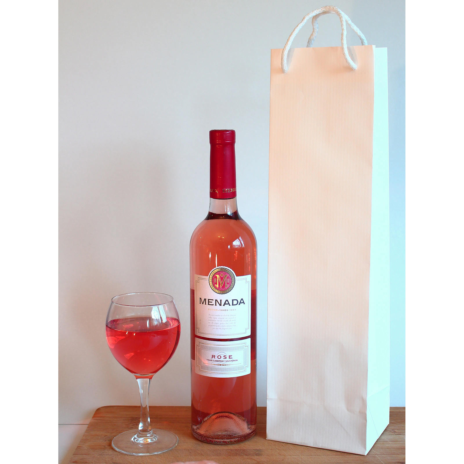 10 Wine Gift Bags - White Paper Bags for wine. Party Gift Bags ...