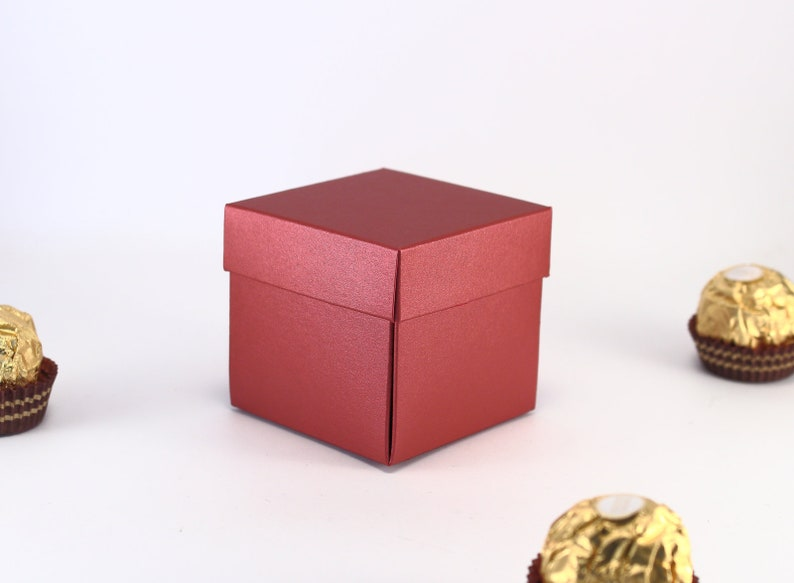 10 Red Favor Boxes Small Gift Boxes With Lids Bridal Shower Baby Shower Birthday Party Favor Boxes Wedding Favor Boxes Candy Boxes