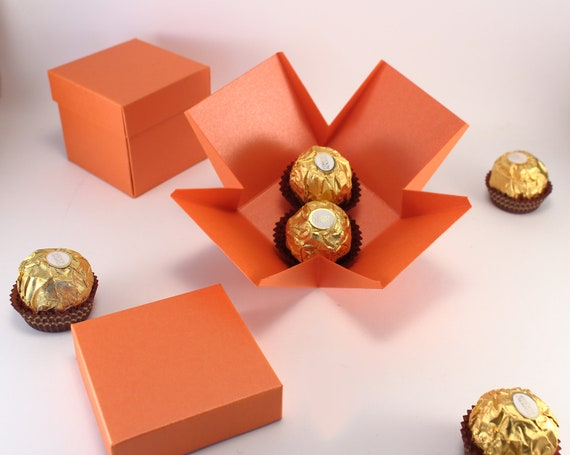 10 Small Orange Gift Boxes With Lids Party Favor Boxes For Birthday Baby Shower Bridal Shower Rehearsal Dinner Favors And Gifts
