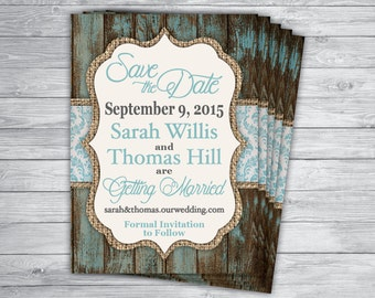 Shabby Chic Colors For 2015 : Wedding wood burlap any event or color unique country chic etsy
