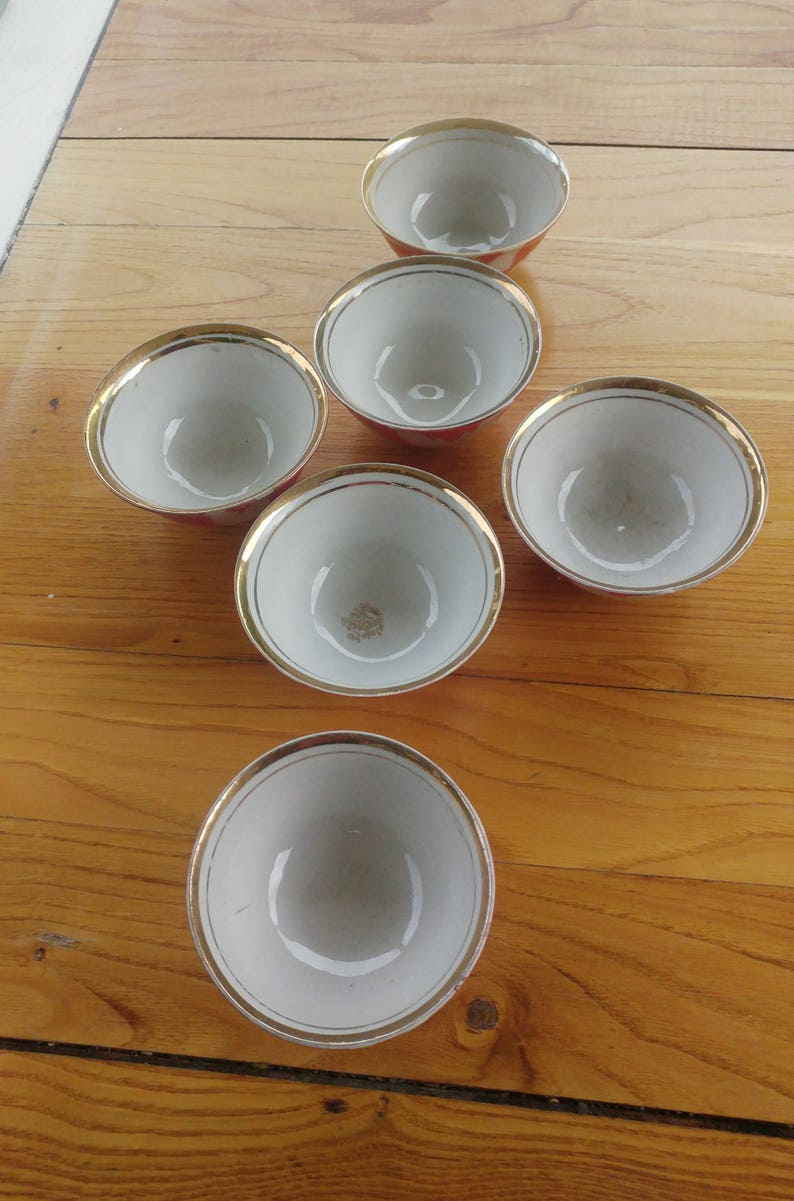 6 pieces small size porcelain