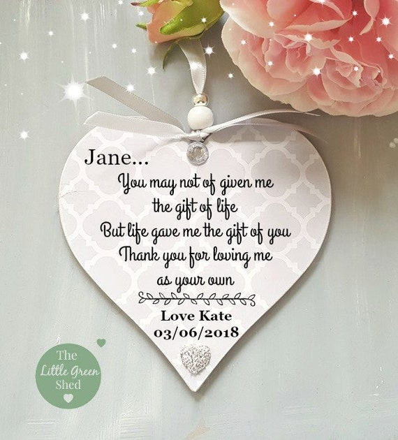 MUM ON YOUR WEDDING DAY personalised gift