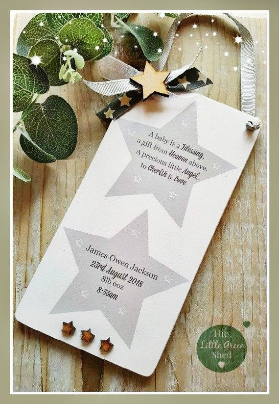 New Baby Gift Birth Plaque Personalised Keepsake A Baby Is A