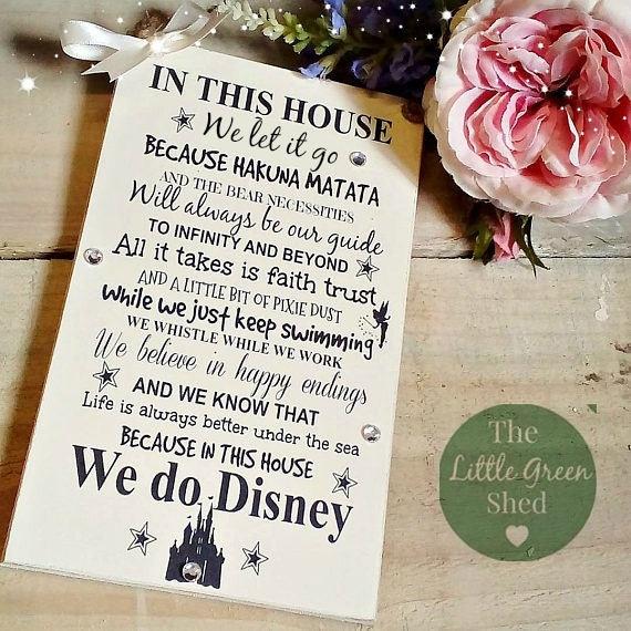 Disney Quote Plaques