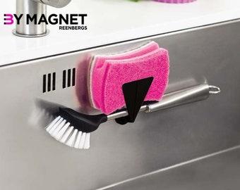 Magnetic Washing Up Brush & Sponge Holder