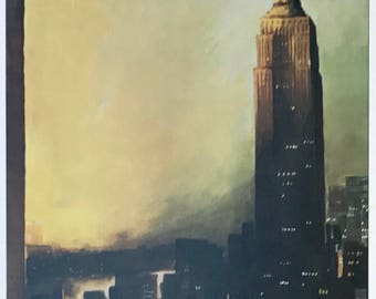 SALE! See description: Postcard featuring a famous 'New Yorker' cover. The Empire State Building - March 1962.