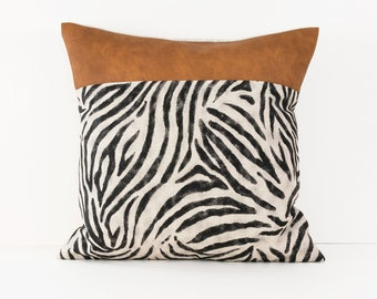 Animal Print Pillow Cover Beige
