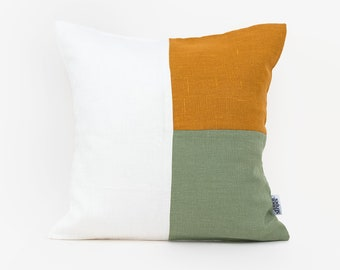 Finn Knit Throw Pillow, Mustard, 18x18