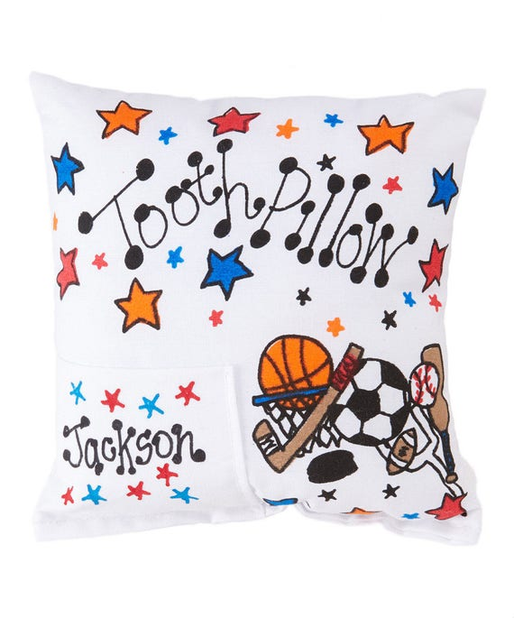 c811a0b6b3bfac Personalized All Star Sports Tooth Fairy Pillow