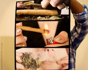 BLUNT GIRL #2 Poster - Cannabis Poster - THCuties #THCuties - Art - Pot Shirt - Girls who Smoke 420 - Marijuana Blunt -  Dutch -  Women