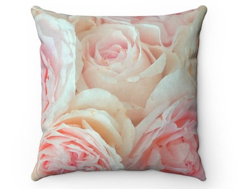 Blush Rose Pillow With Insert