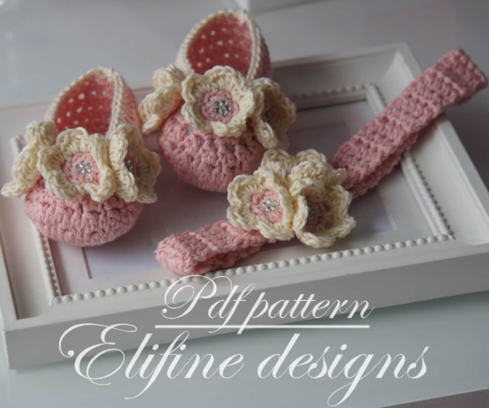 crochet pattern, crochet ballet shoes, crochet headband, crochet booties, baby shower, diy, baby, patterns, crochet baby, croche