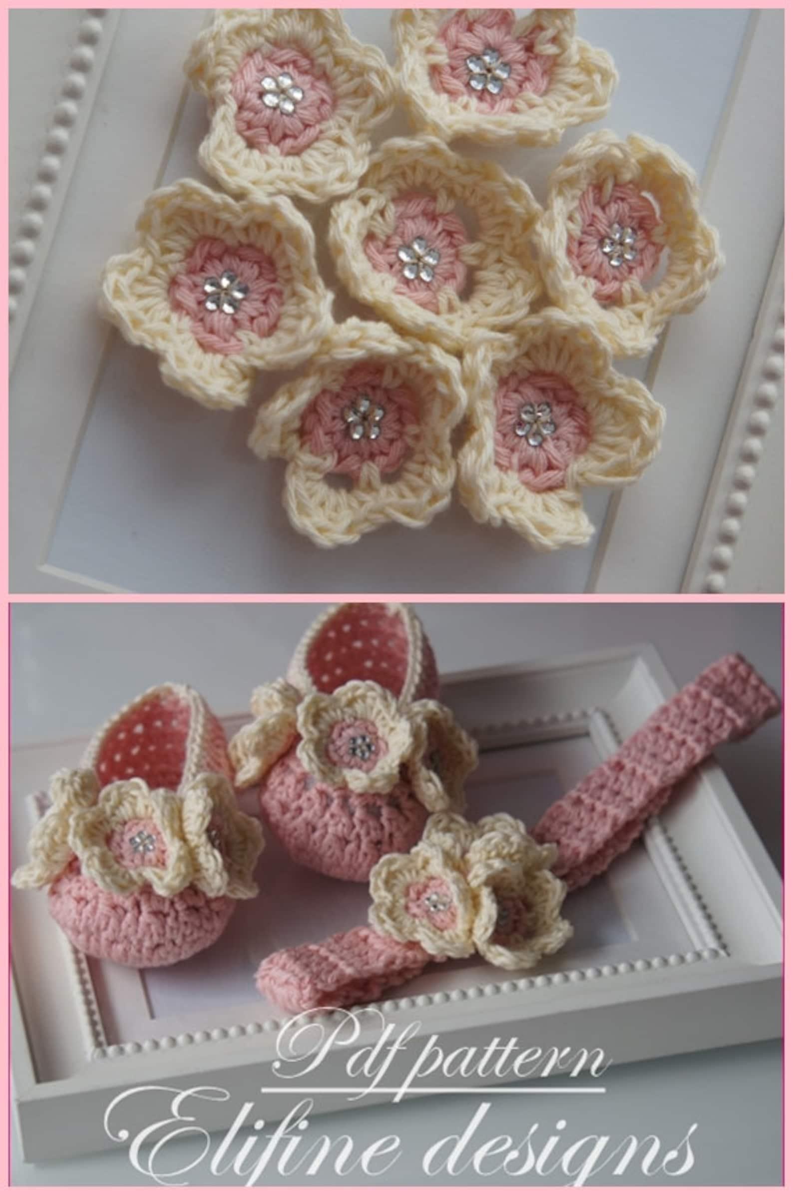 crochet pattern, crochet ballet shoes, crochet headband, crochet booties, baby shower, diy, baby, patterns, crochet baby, croche