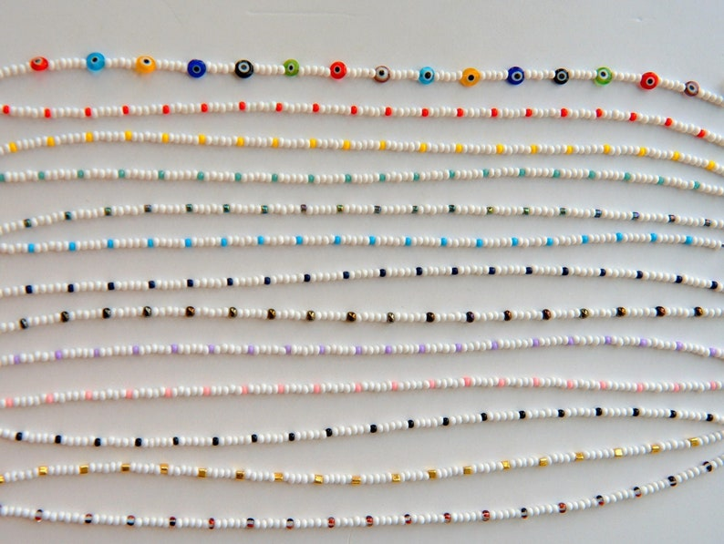 A Dash of Color Beaded Choker Small Seed Bead Beaded image 0