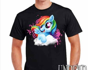 Rainbow Dash My Little Pony  - Mens T Shirt