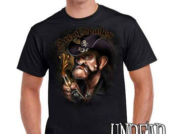 Lemmy Kilmister Motorhead Ace of Spades - Mens T Shirt