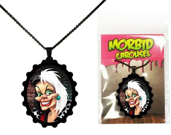 Disney Villains 101 Dalmatians Cruella De Vil  Necklace