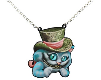 Alice in Wonderland Cheshire Cat Necklace