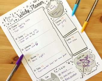 Witchy Weekly planner