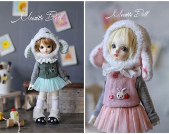 Pink & Green Bunny for YOSD 1/6BJD
