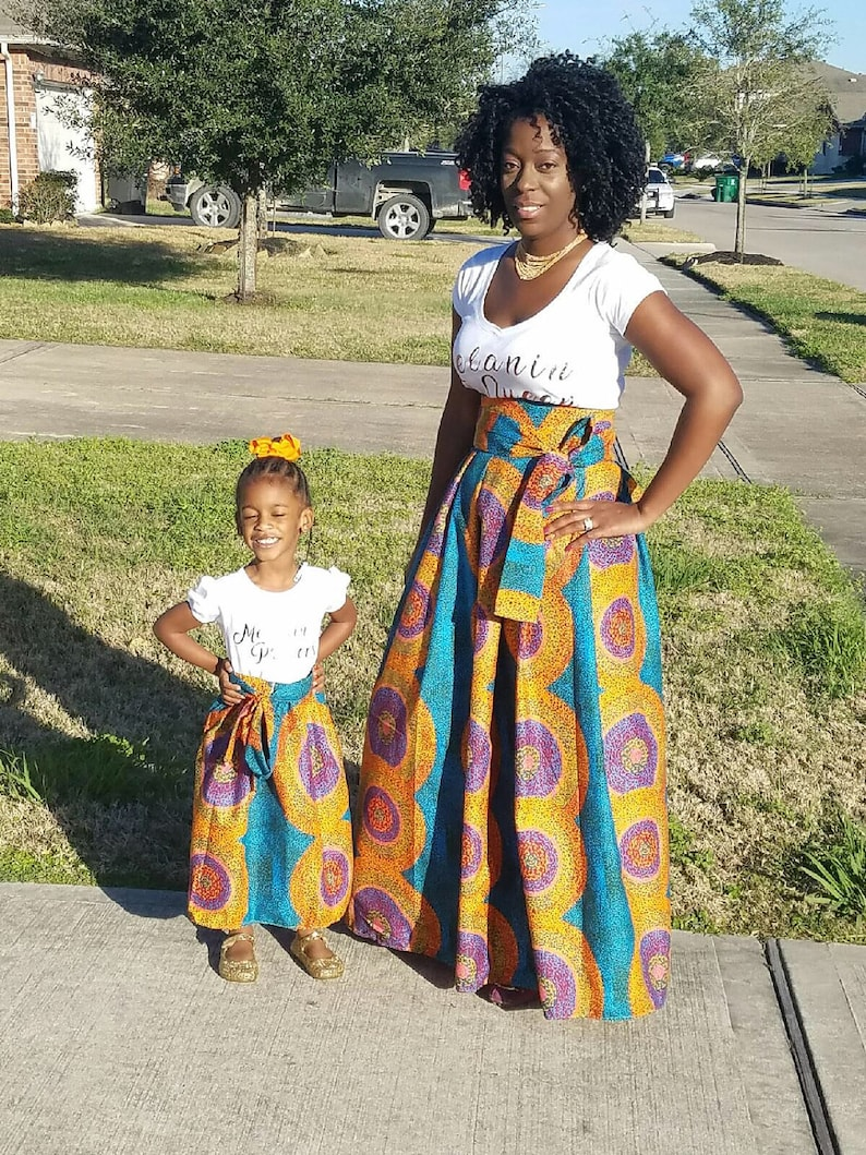 Sale Sale Sale   African Maxi Skirts mommy and me skirts image 0