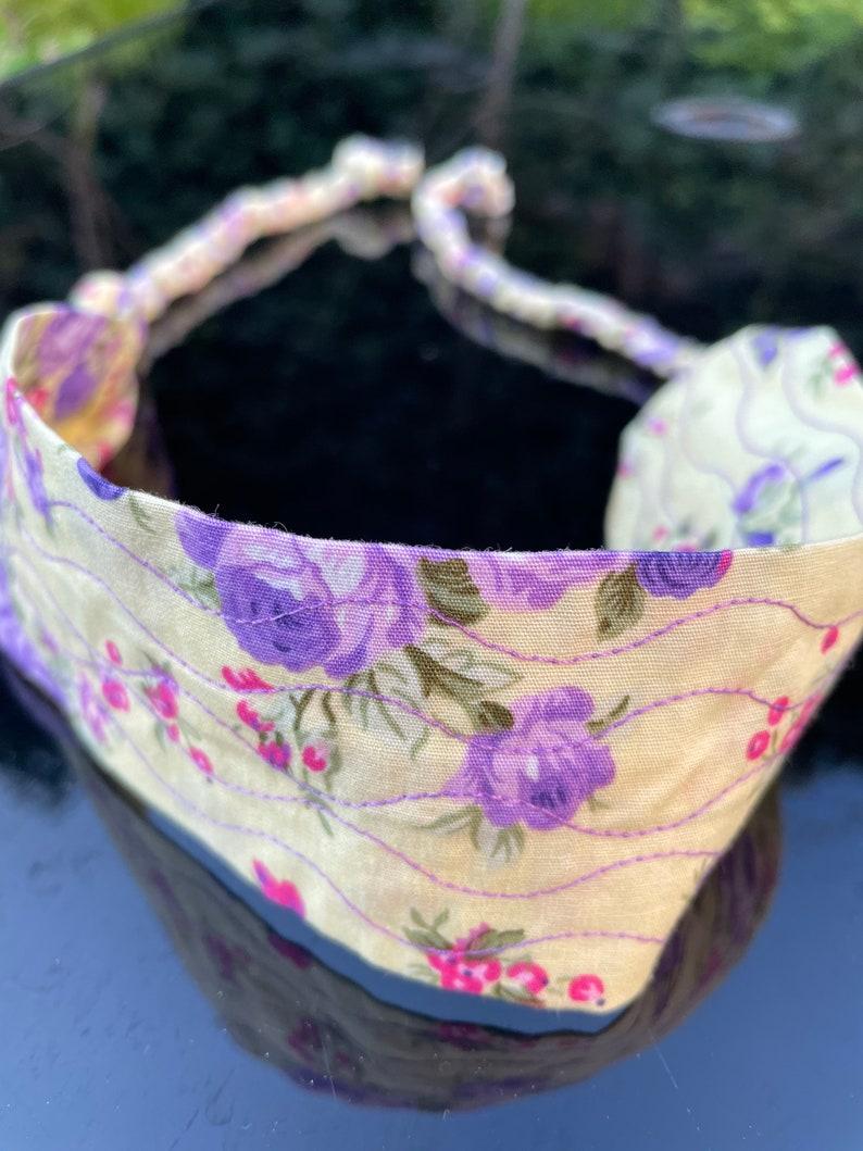Princess Hairband Yellow floral flower children accessories Floral purple