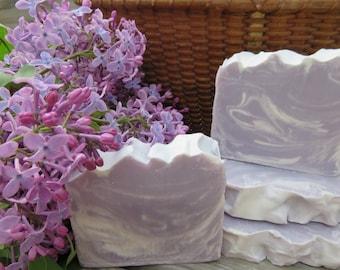 Lilac Soap, All Natural Soap, Bar Soap, Handmade Soap, Homemade Soap, Cold Process Soap, Artisan Soap, New Hampshire Soap, Bath Soap